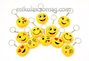 Plüss kulcstartó smile