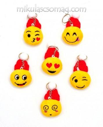 Smile kulcstartó mikulás sapkában